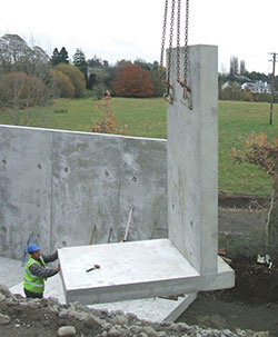 Retaining walls carlow precast for Prefabricated basement walls